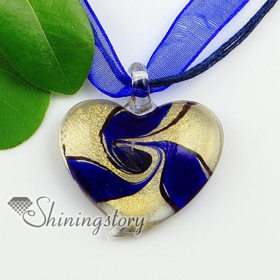 Heart glitter swirled handmade murano glass necklaces pendants heart glitter swirled handmade murano glass necklaces pendants wholesale aloadofball Gallery