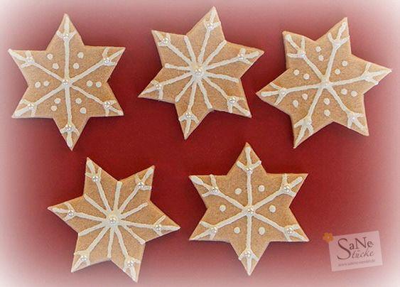 Weihnachtssterne aus Filz (Lebkuchensterne)