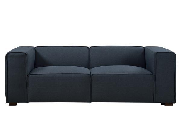 George Contemporary Linen Wide Sofa Spring Sage Home Sofa