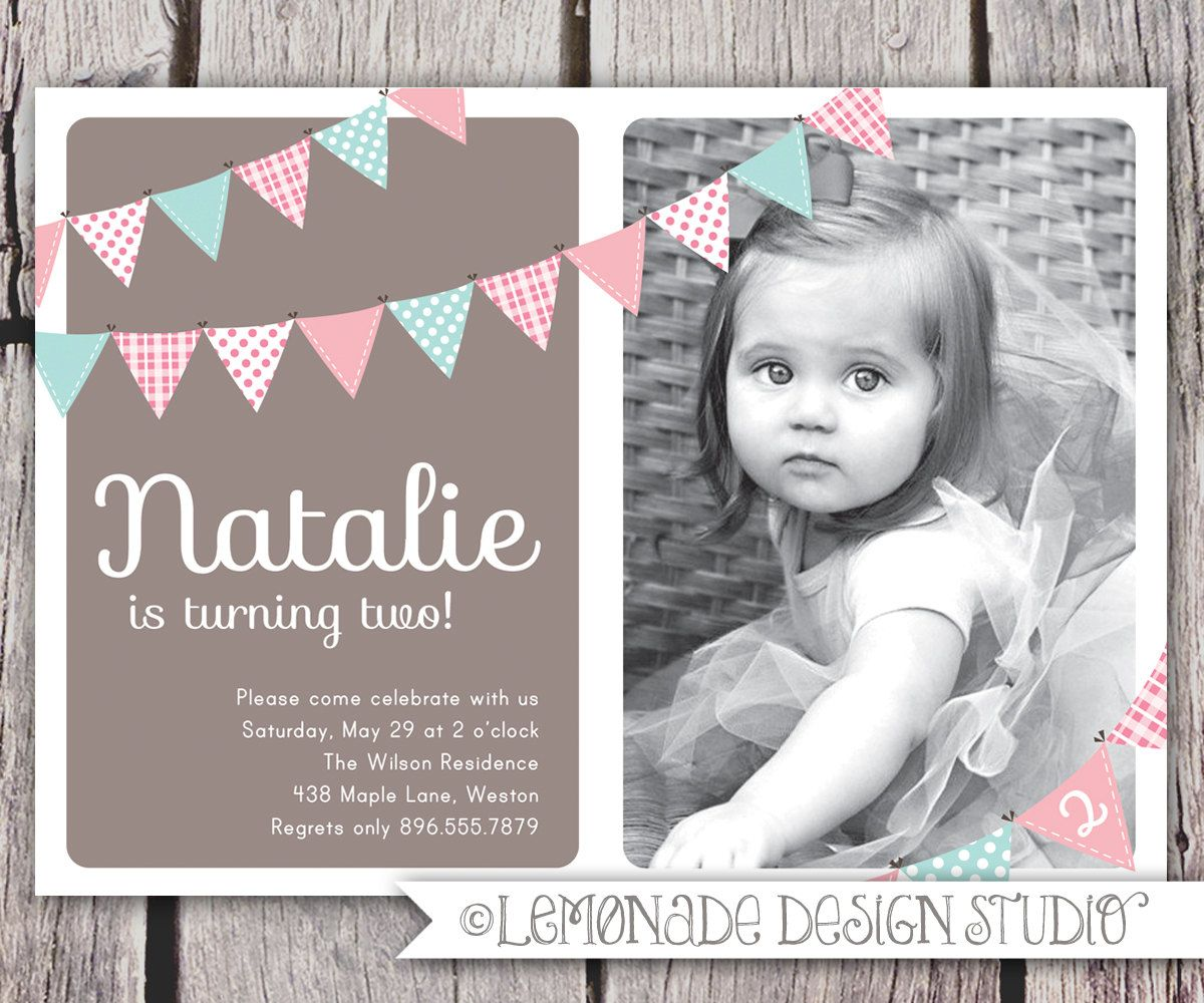 Nice 2 Years Old Birthday Invitations Wording
