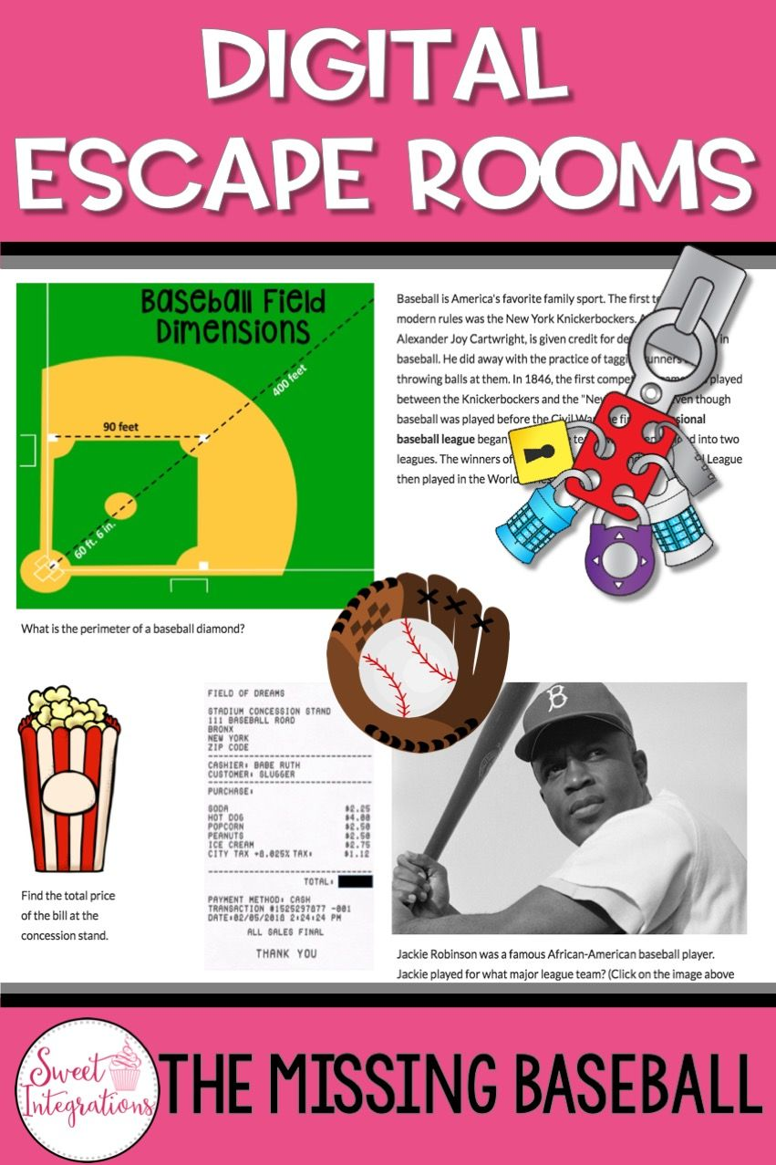 Digital Breakouts Are Very Similar To Scavenger Hunts But Incorporate Math Critical Thinking Social Studies Student Escape Room Baseball Distance Learning