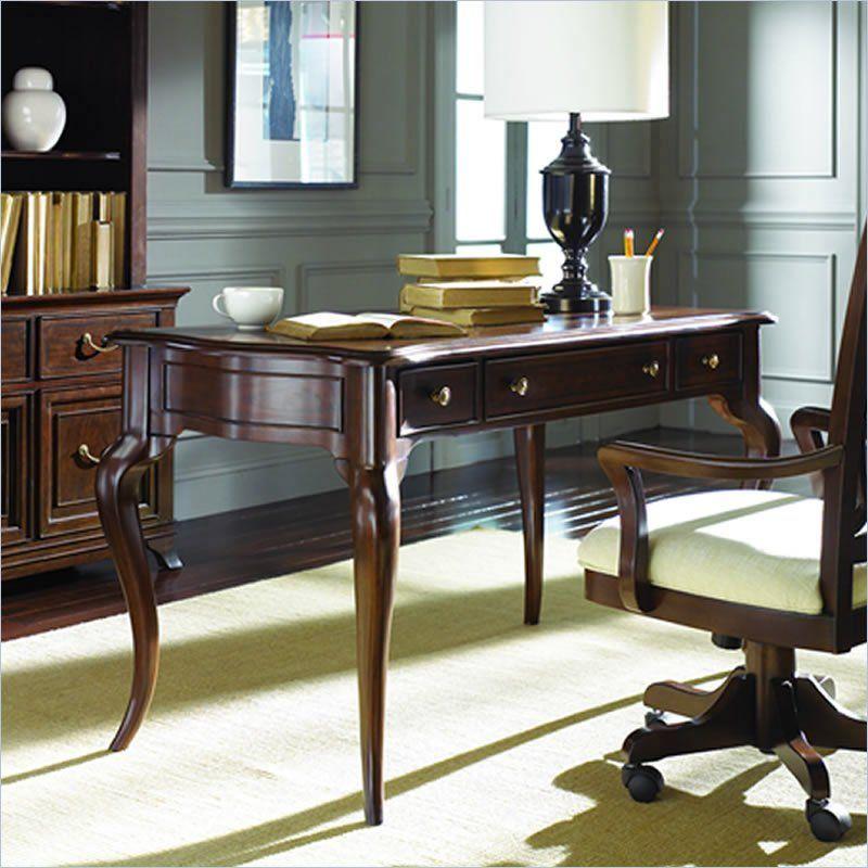 American Drew Cherry Grove Writing Desk in Mid Tone Brown ...
