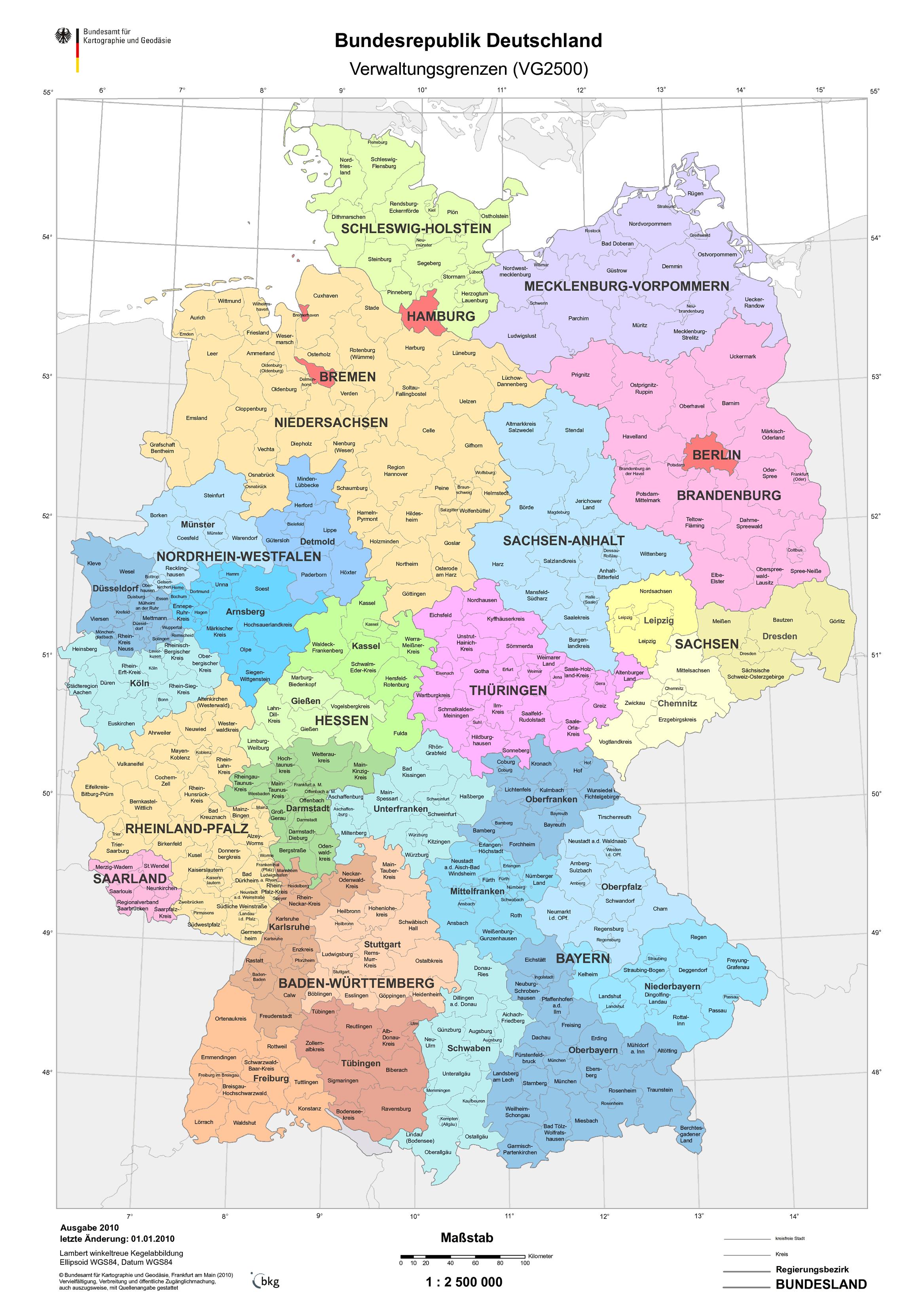 google deutschlandkarte Deutschland_Bundeslaender_Verwaltungsgrenzen_2010.png (2335×3300