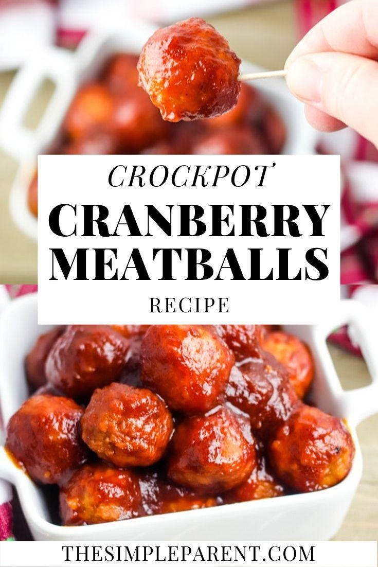 Crockpot Cranberry Meatballs Recipe. Add a holiday twist to easy Crockpot Meatba…