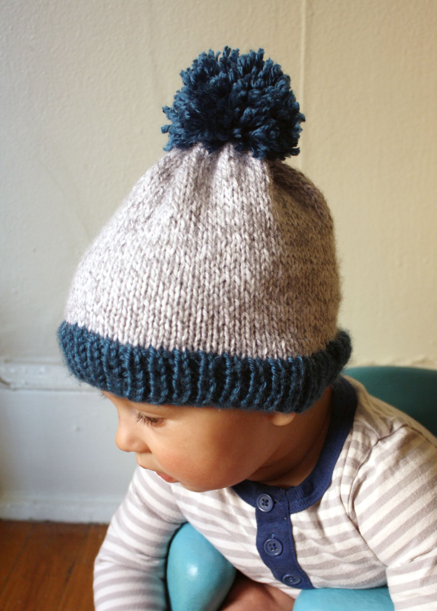 Big Pom Baby Beanie - Now With Free PDF Pattern!    Michael Ann Made ... 3d34cd3b899