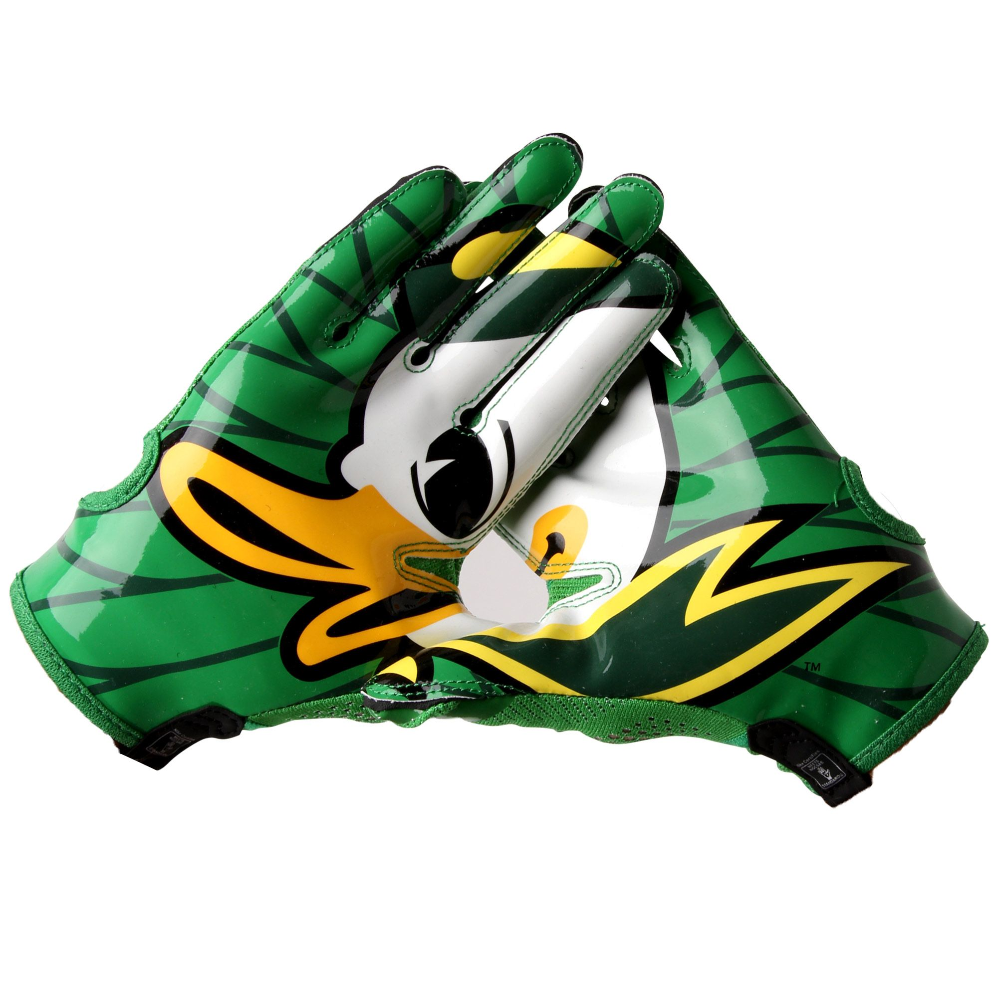 College mens nike oregon ducks vapor knit gloves oregon