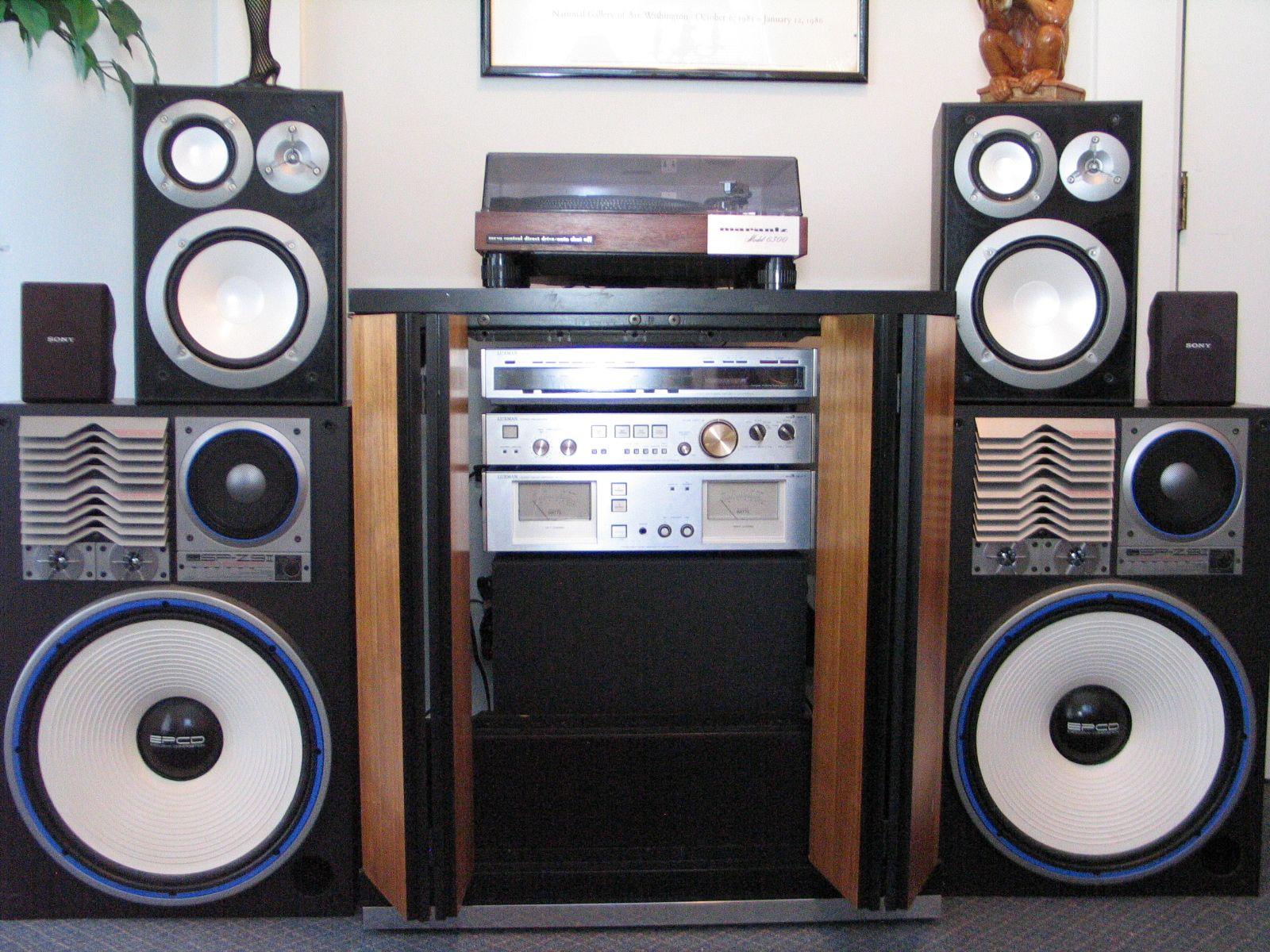 Sansui Sp Z9ii Vintage Speakers 300 Watt Rare Sexy Set Up Avan Av 801 Headset Headphone