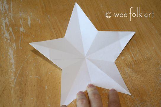 5 arm stern aus papier falten und schneiden karten ideen. Black Bedroom Furniture Sets. Home Design Ideas
