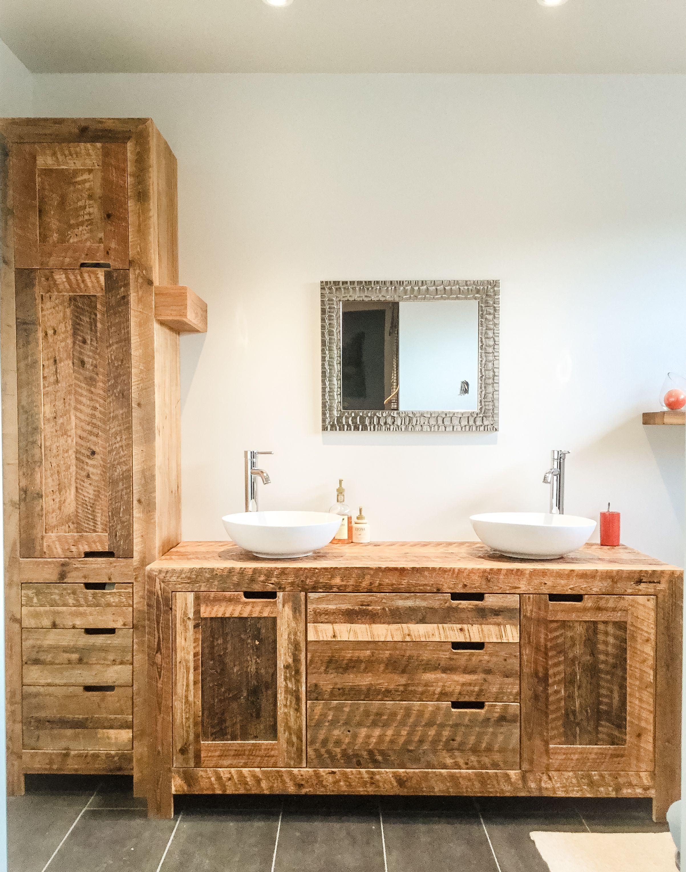 Vanité – Espace-Bois Inc. | salle de bain | Lavamanos, Disenos de ...