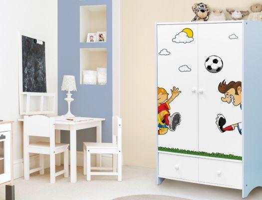 Fußball Möbelaufkleber für Kinderzimmerschränke | Möbelsticker für ...