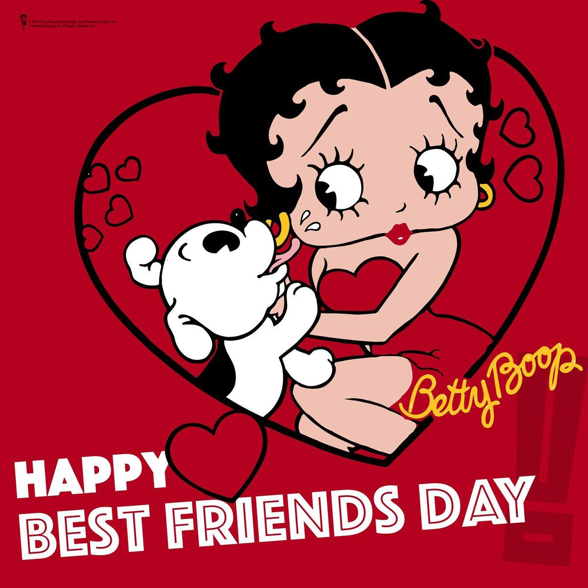 Happy Best Friends Day With Betty Boop And Pudgy Betty Boop