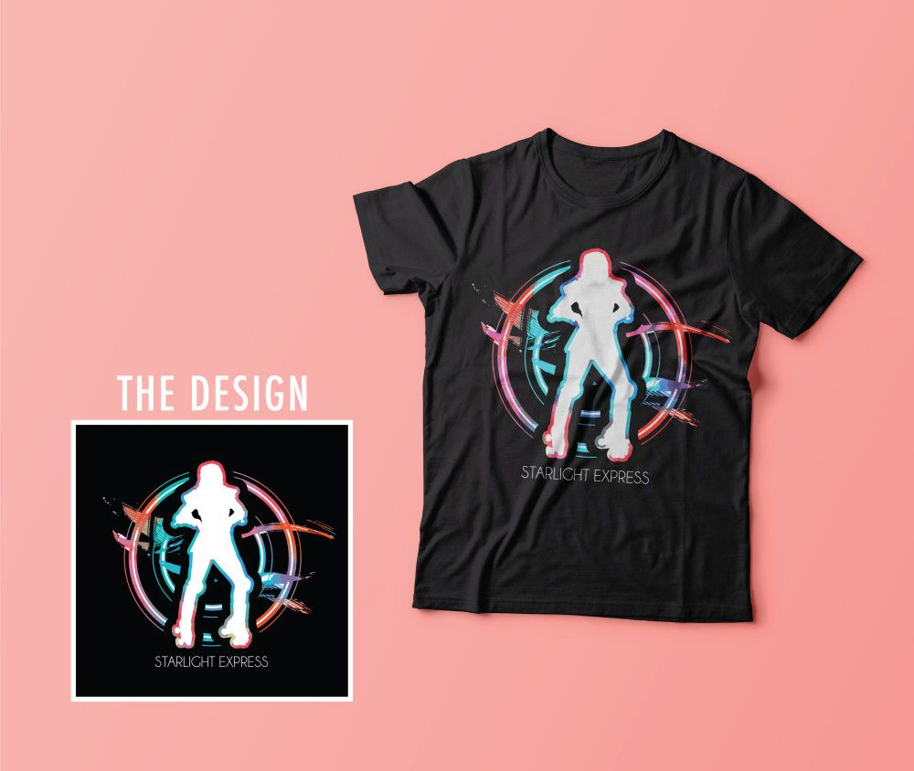 Design t shirt rollerblade - This Is My Starlight Express T Shirt Design I Focused On Colourful Circular Elements