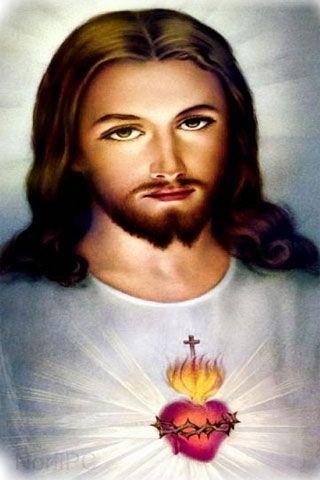 Im genes de jesucristo y la virgen mar a para fondos de for Fotos del corazon