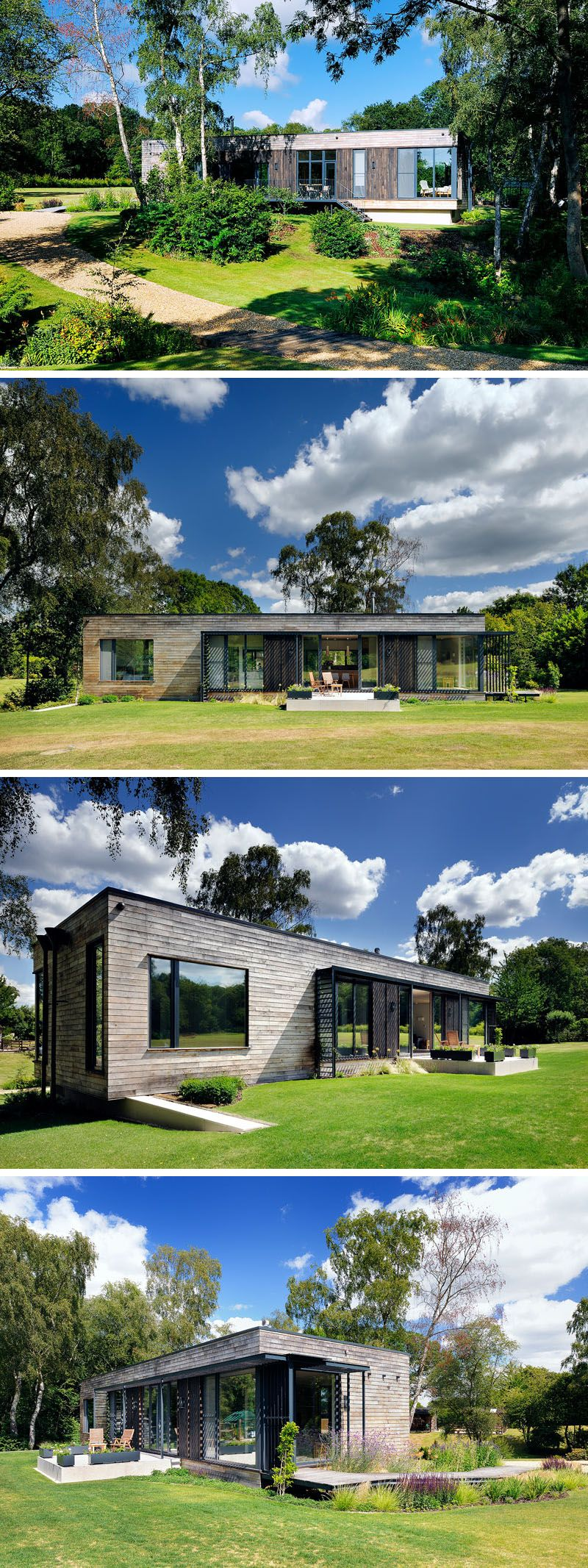 A Low Energy Home Located A Clearing In The Forest