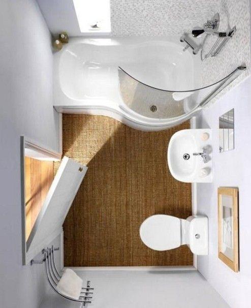 Vista cenital para una distribución en un cuarto de baño ...