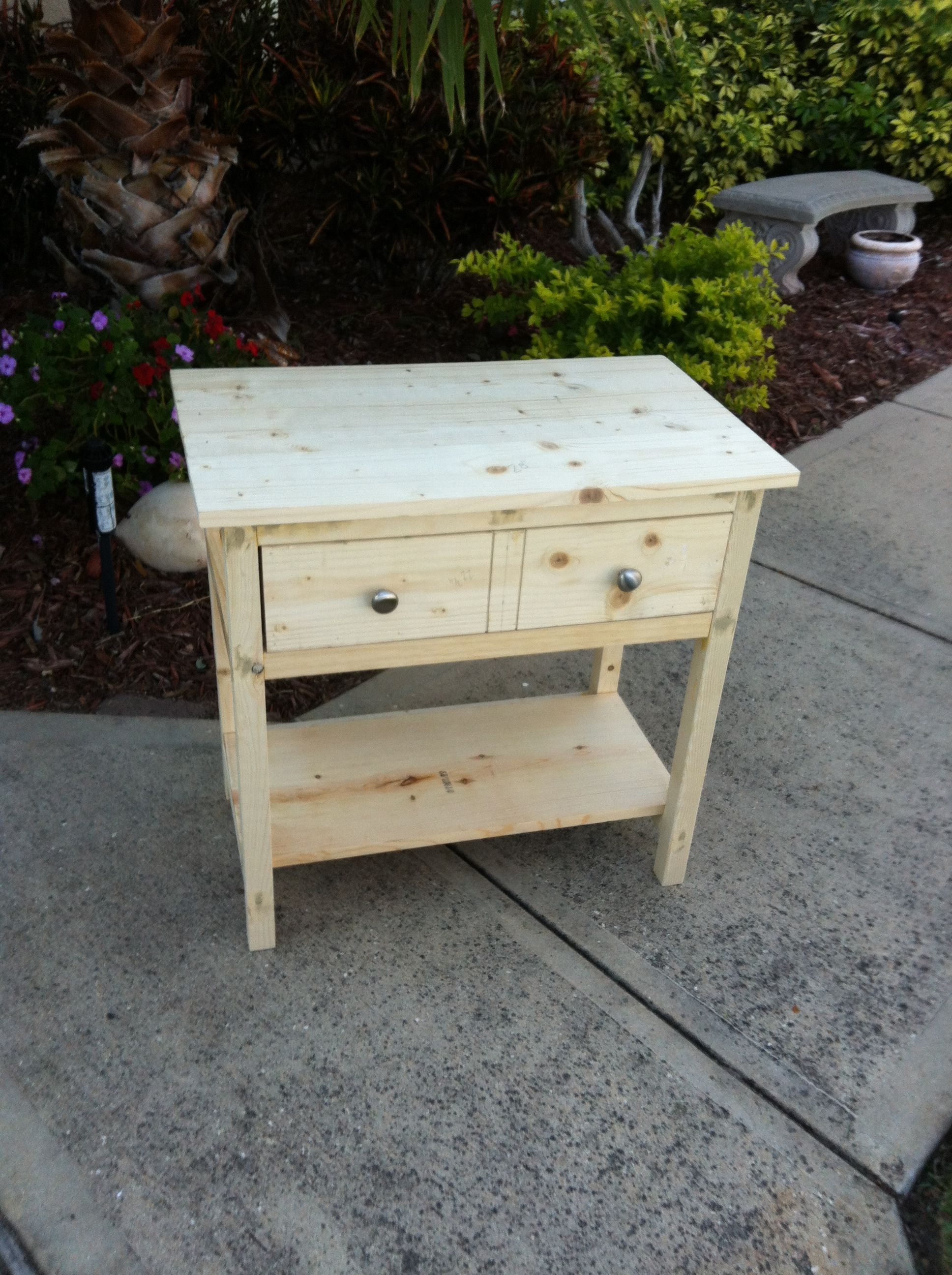 Homemade night stand   Projects   Pinterest