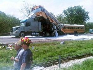 A Truck An A Bus Trucking Accident Www Crcint Com With Images