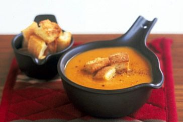 moroccan sweet potato, carrot and chickpea soup