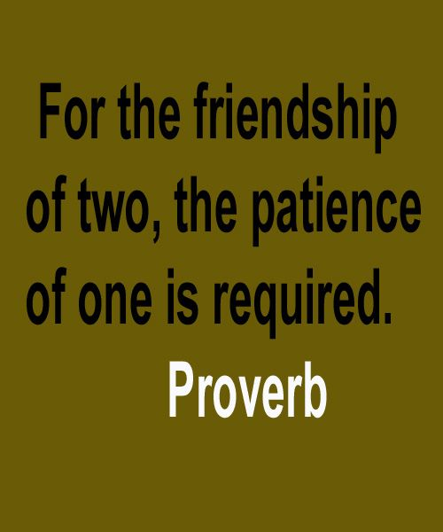 The Patience Of One Friendship Quote INSPIRATIONAL QUOTES Gorgeous Quotes About Friendship By Famous Authors