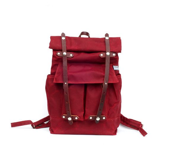 The Camper Satchel in Red Waxed Canvas by sketchbook on Etsy, $240.00