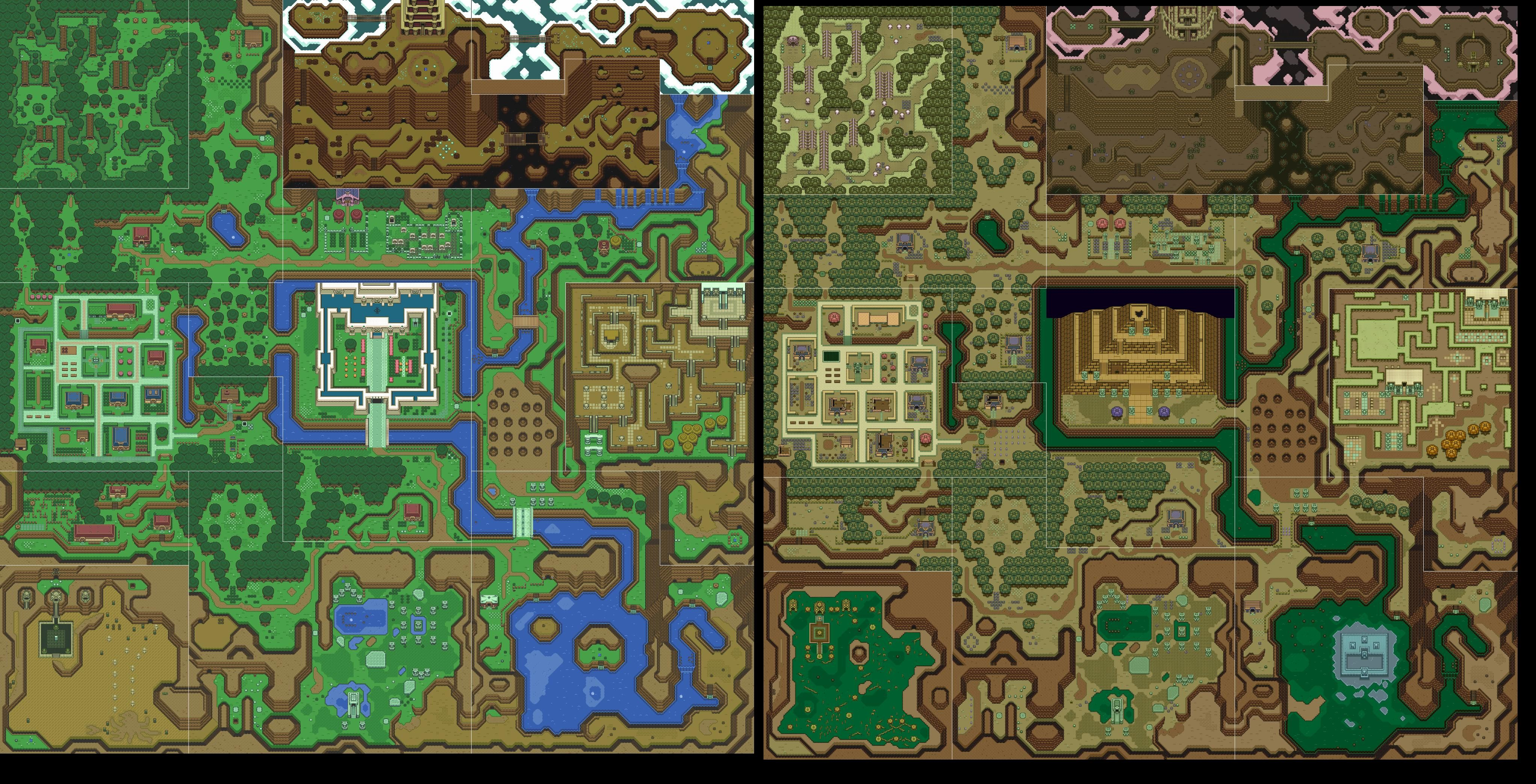 My Piece Of Art For Cpe 123 It Is The Map For An Old Nintendo Game Called Legend Of Zelda A Link To The Past Which Was One Of The First Games I