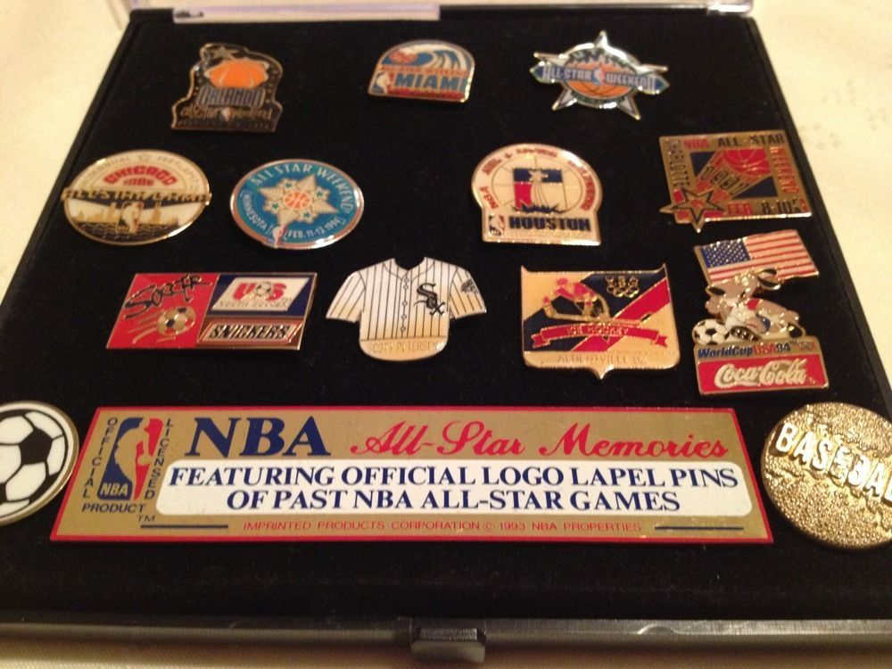 NBA All Star Memories and Misc.  Logo Lapel Pins of Past All Star Games Sports