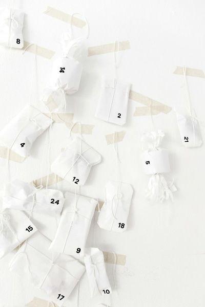 white advent calendar