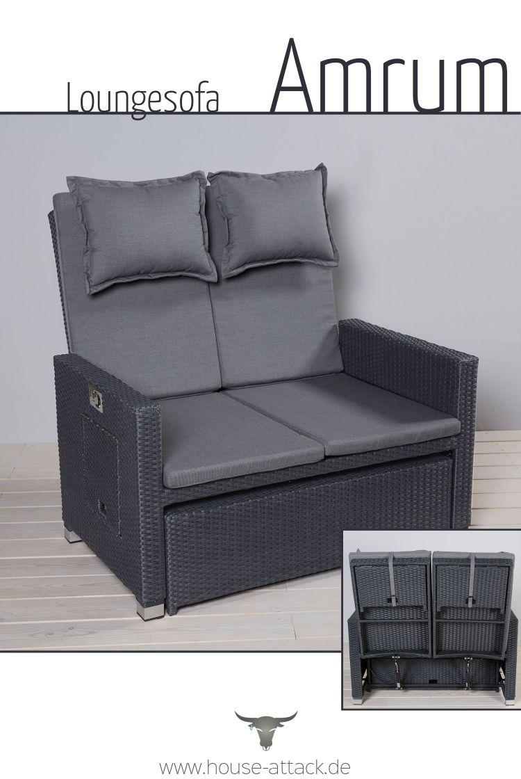 Multifunktionssofa Amrum Bettsofa Lounge Garnitur Lounge