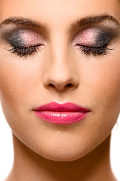 beauty portrait with make up studio lighting with setup for face