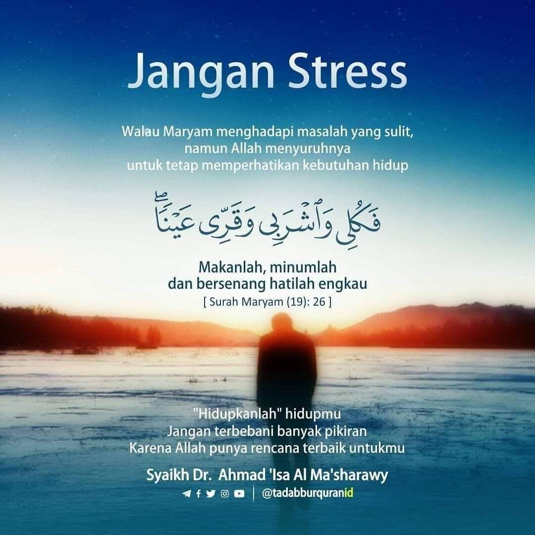 Jgn byk memikirkan masalah dunia Islam Pinterest