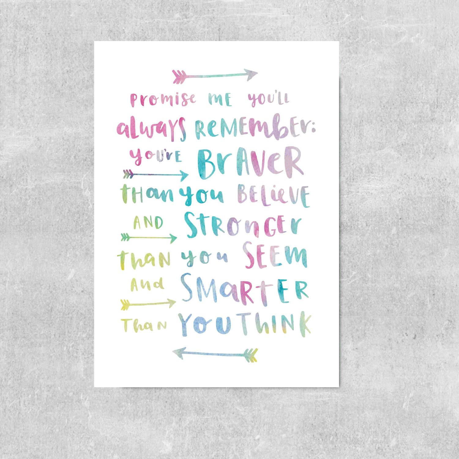 Clarity Comes From Engagement Rainbow Quote Print