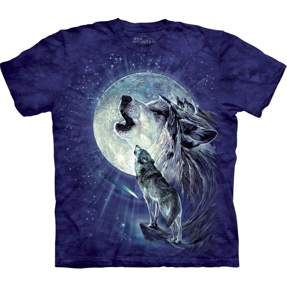 Wolf Duo Howling At Moon Kids T Shirt Wolf T Shirt Moon Child Wolf Shirt