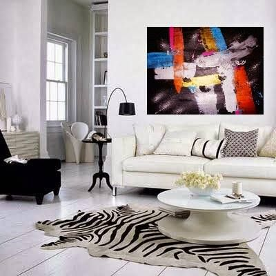 Abstract art uses a visual language of shape form color and line to