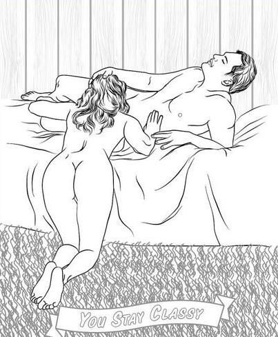 this hilarious sex position coloring book will definitely help you de stress