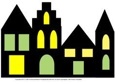 Fensterbild Hauser Mit Transparentpapier 2 Medienwerkstatt Wissen