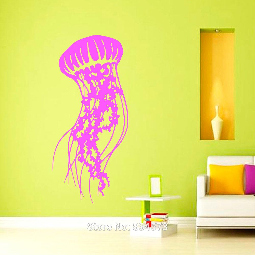 Jellyfish Sea Scuba Ocean Animals Wall Art Sticker Decal Home DIY ...