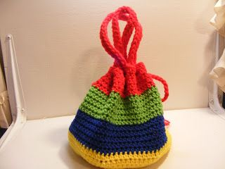 Caretaking & Crochet: Toy Tote Bag