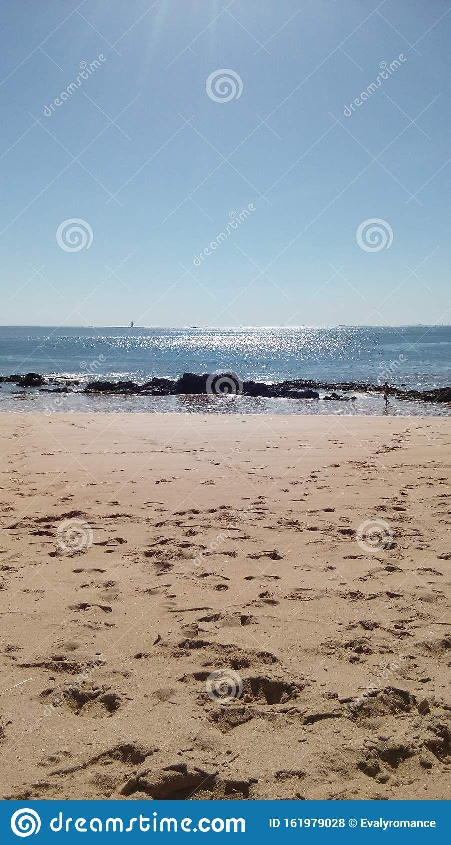 Ocean Sea Sand Beach Landscape Blue Rock Pornichet Pornichet Photographie Photos
