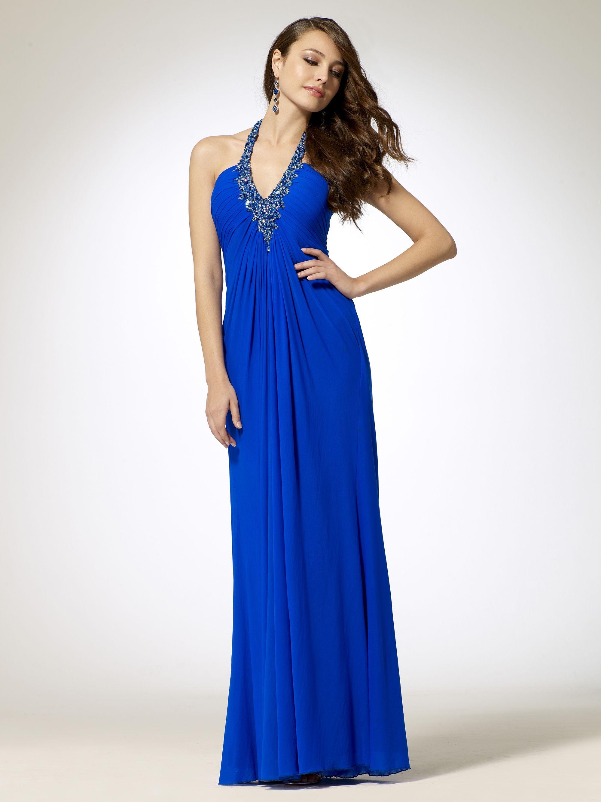 Beaded necklace halter gown evening dresses pinterest halter