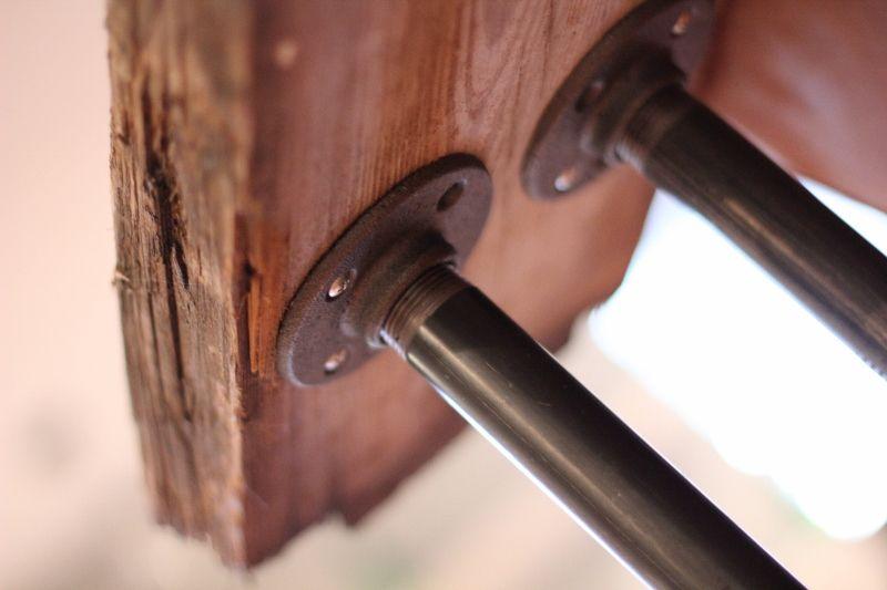 rustic metal-black iron pipe-table diy & rustic metal-black iron pipe-table diy | decorating | Pinterest ...