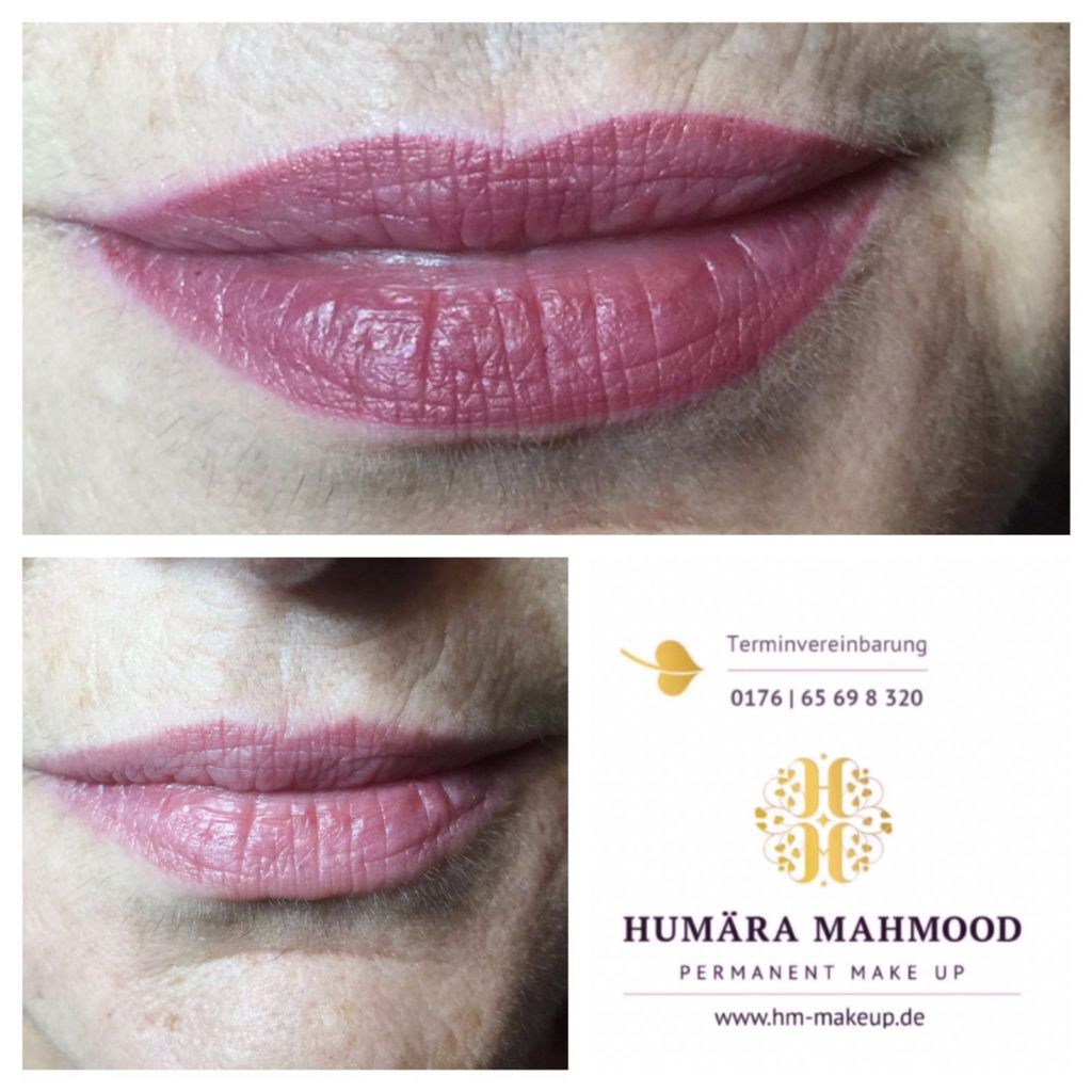 Lippenverschonerung Made By Me Lips Embellishment Made By Me Dear Beauties This Pic Shows A Lip Before And After The Predrawi Vollere Lippen Permanent Make Up Augenbrauen Und Lippen