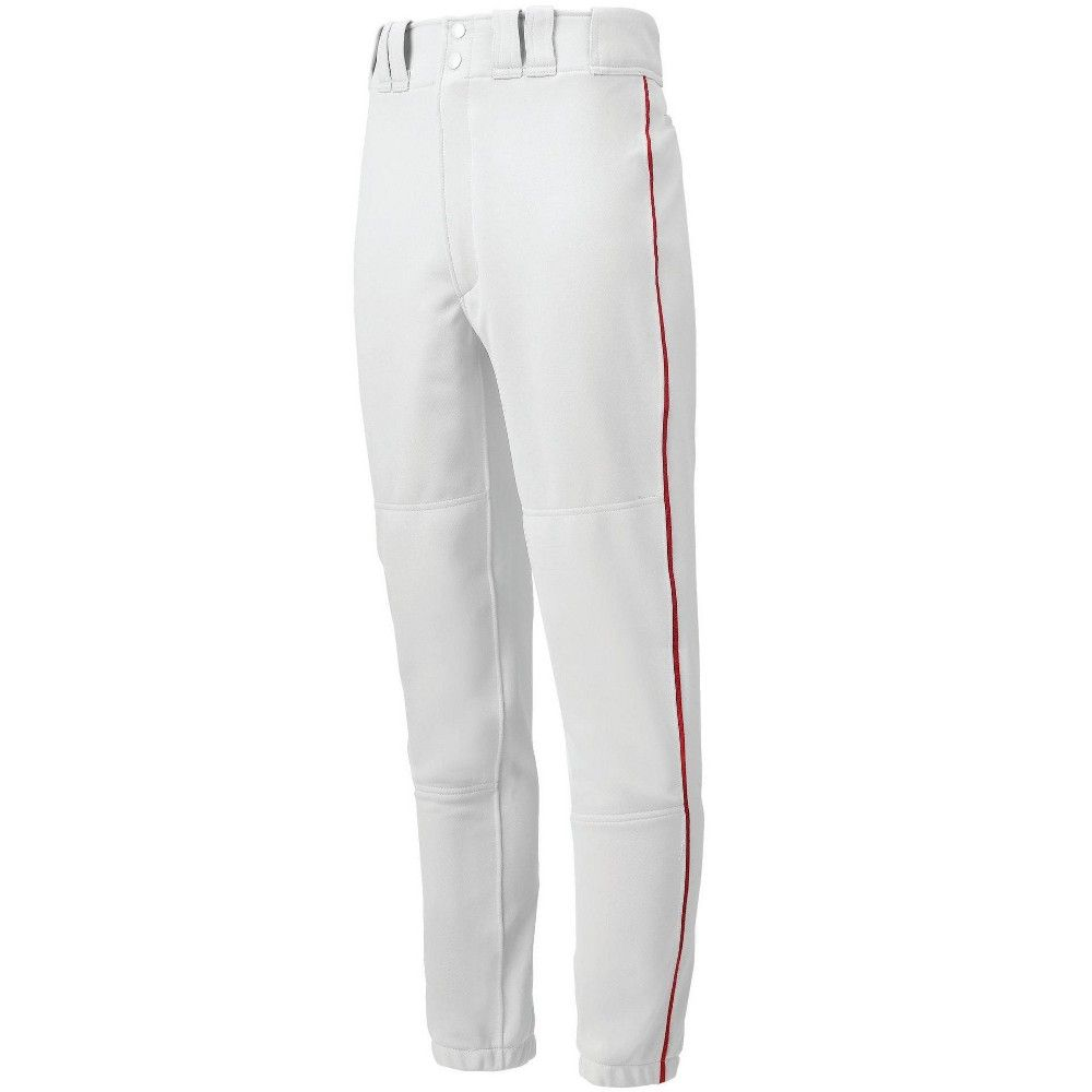 Mizuno Youth Boys Premier Piped Baseball Pant Size Extra Extra Extra Large In Color White Red 0010 Baseball Pants Baseball Outfit Mizuno