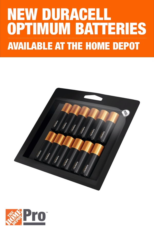 Duracell S Latest Breakthrough In Batteries Is Now Available At The Home Depot The New Duracell Optimum Batteries Video Duracell Optima Battery Homeowner Essentials