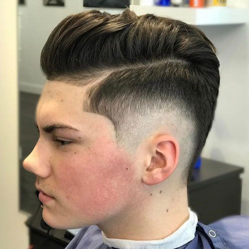 Awesome Burst Fade Comb Over Pomp