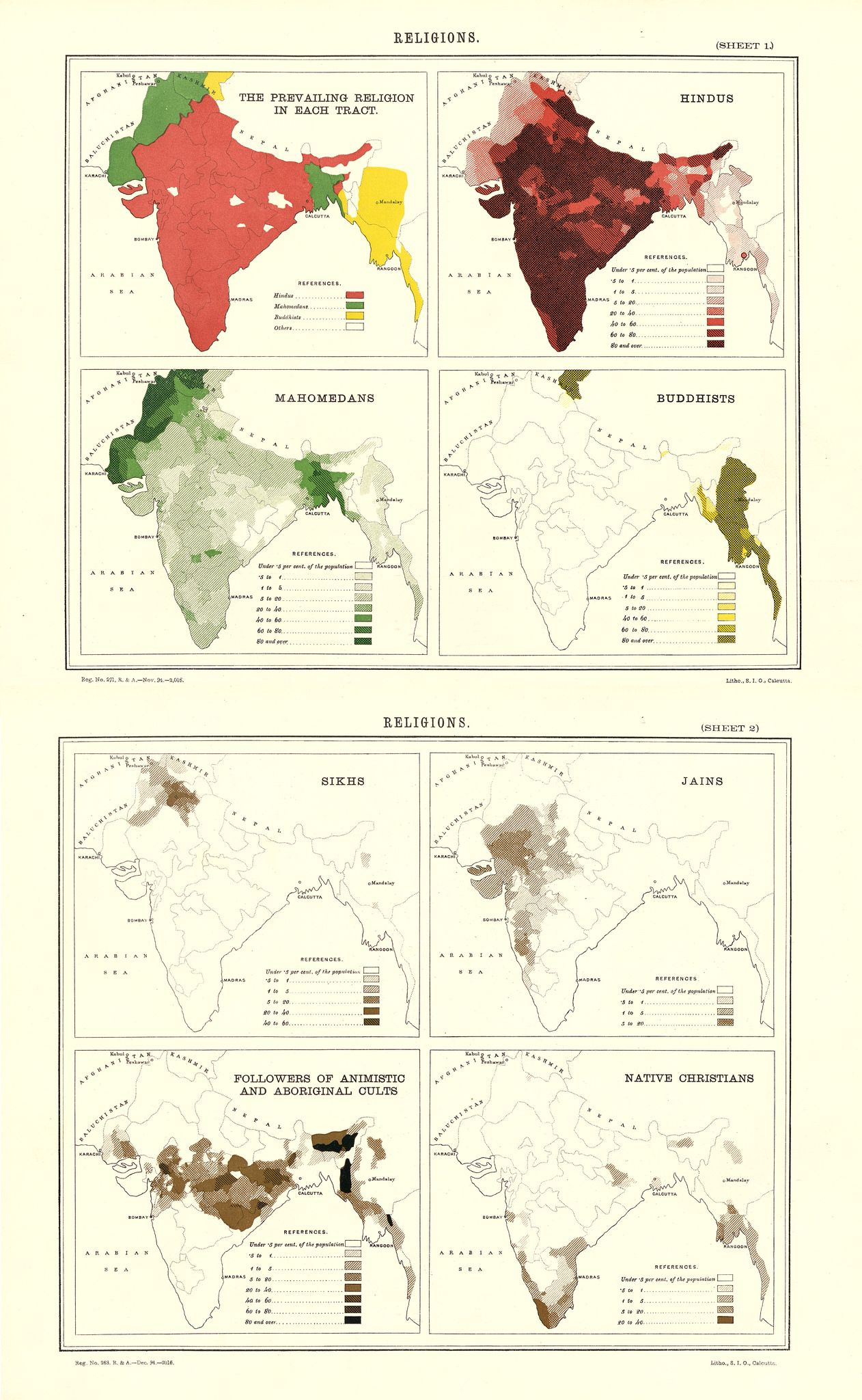 Religions In British India, 1895 #map #india #religion