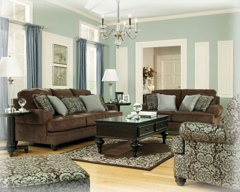Crawford Chocolate Living Room Set Brown Couch Living Room Brown Living Room Decor Blue Living Room