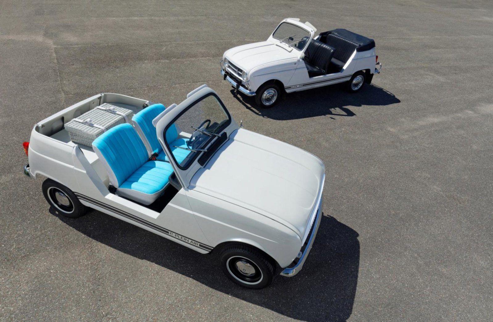بالصور سيارة رينو Concept E Plein Air تحفة فنية قديمة تتحول إلى سيارة كهربائية Renault 4 Concept Cars Renault