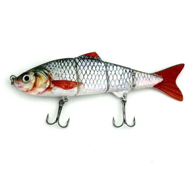 12CM 16.8G FISHING S 4 SEGMENTS LIFELIKE SWIMBAIT HARD FISHING TACKLE