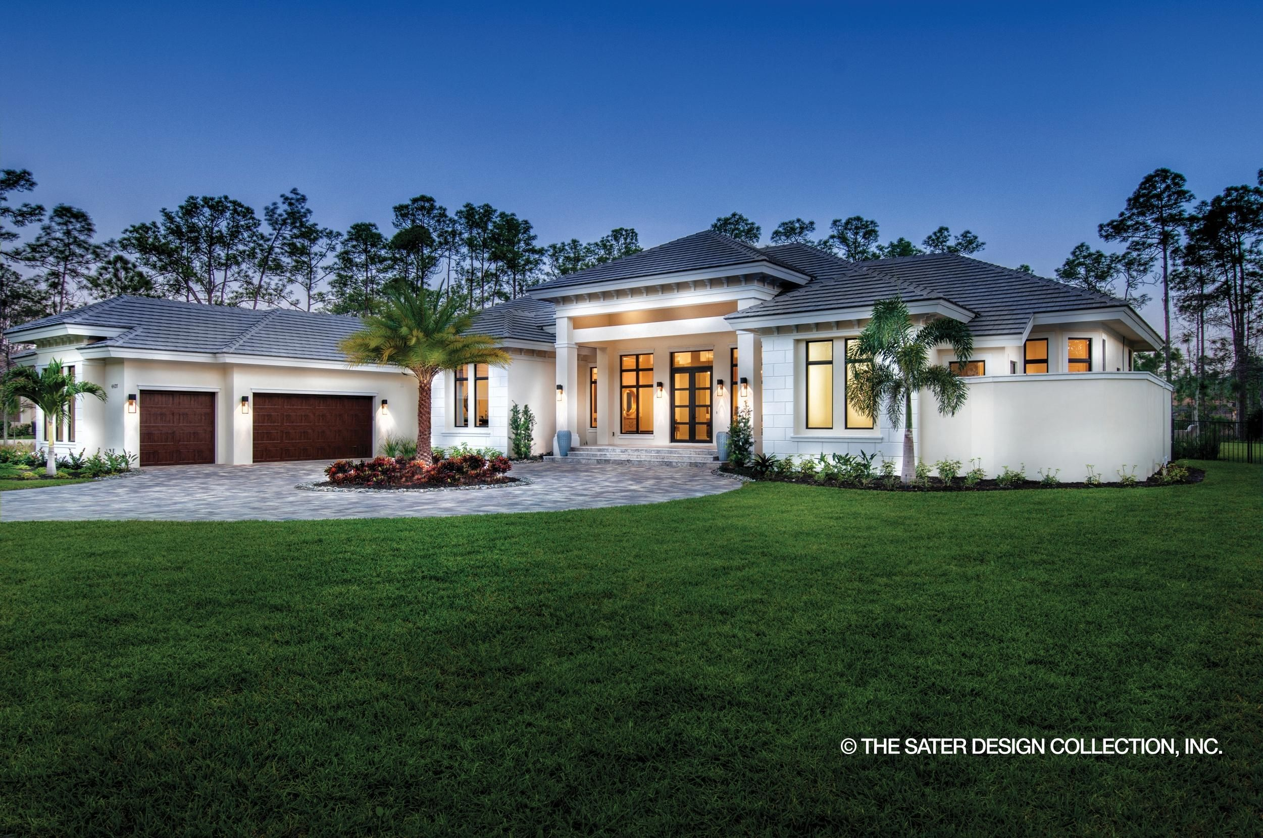 House Plan Luxury On One Level Mediterranean Style House Plans Home Building Design Mediterranean Homes