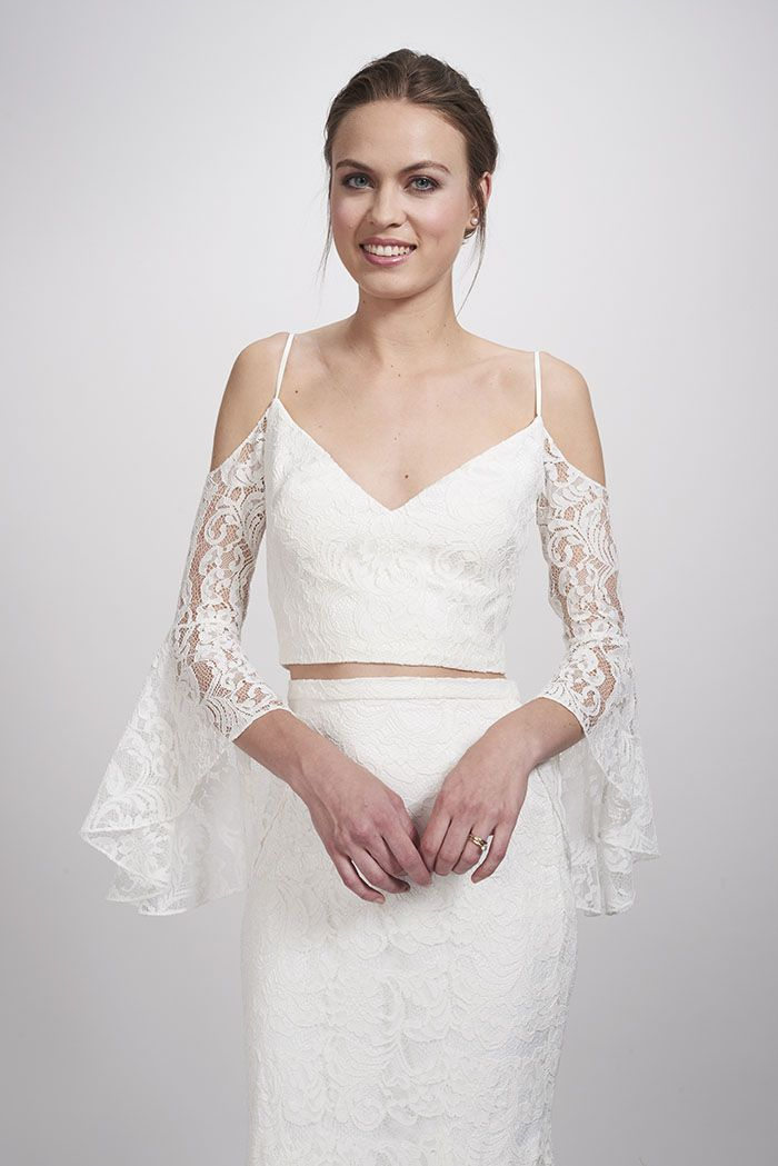 Theia Bridal Mariel Boho Bride Crop Top | My passion for Fashion ...